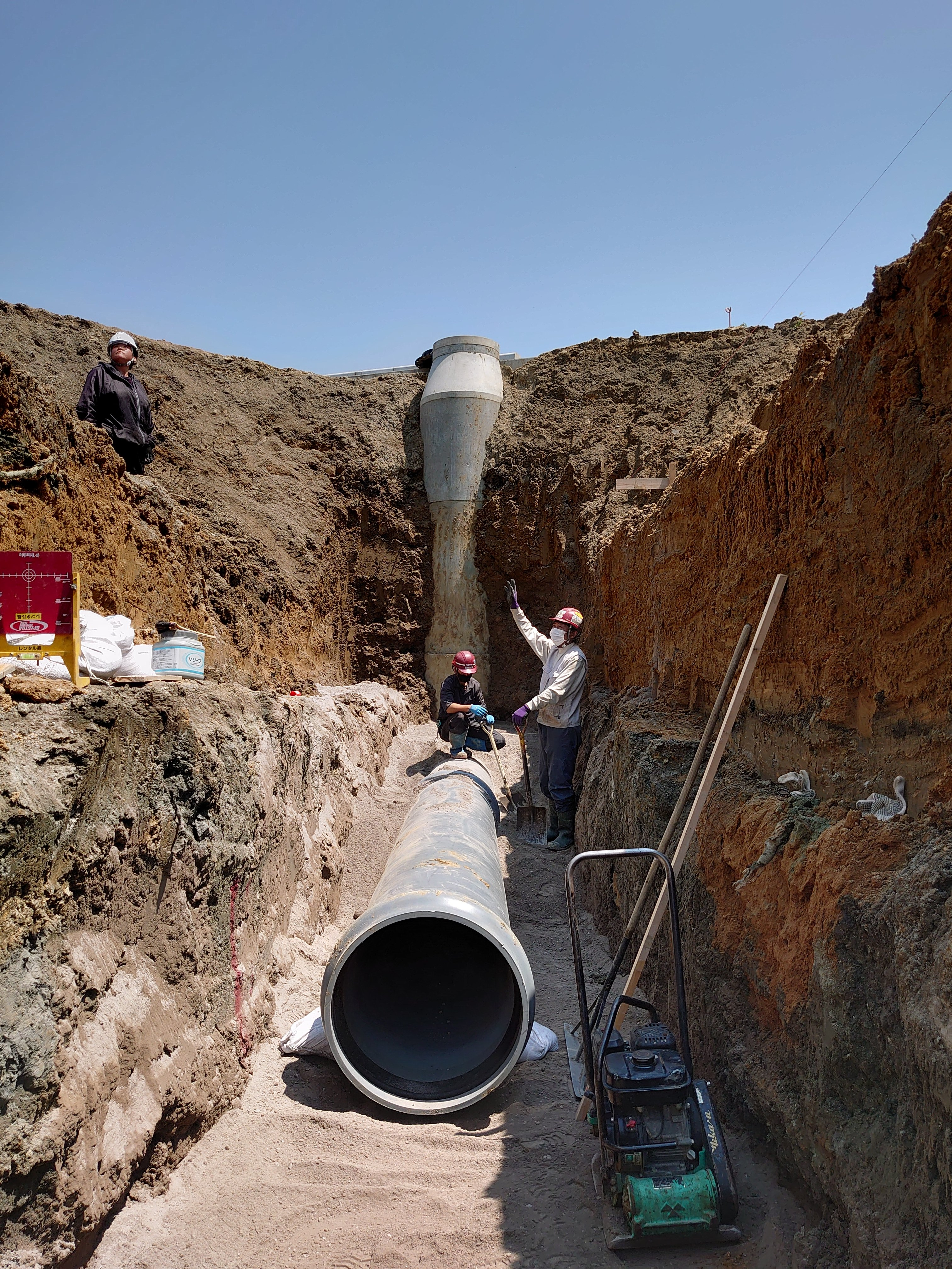 嵐山雨水配管工事