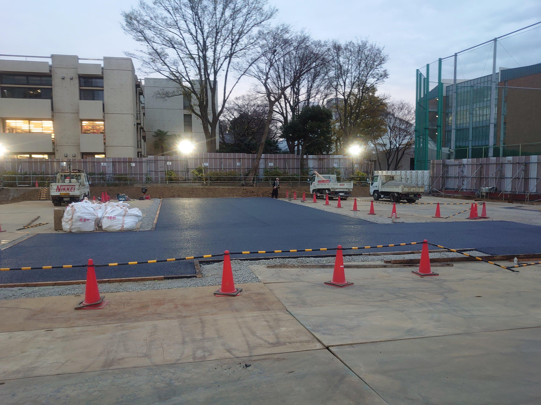 G大学地鎮祭用舗装工事