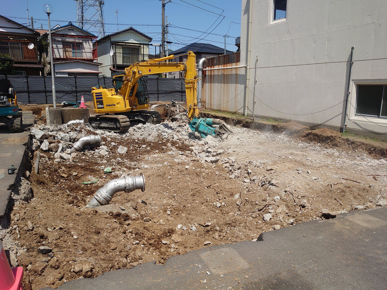 浄水場コンクリート取壊し工事